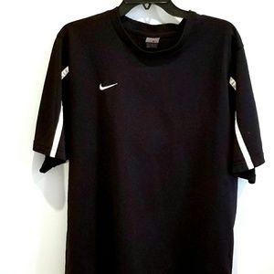 Nike black shirt white stripe detail